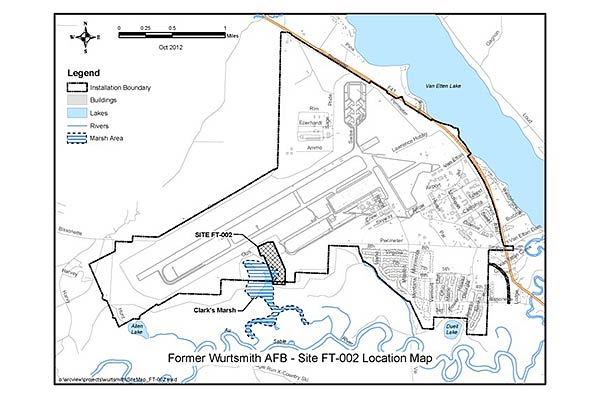 Extent Of Wurtsmith Air Force Base Contaminant Unknown Militarycom - Air force bases us map