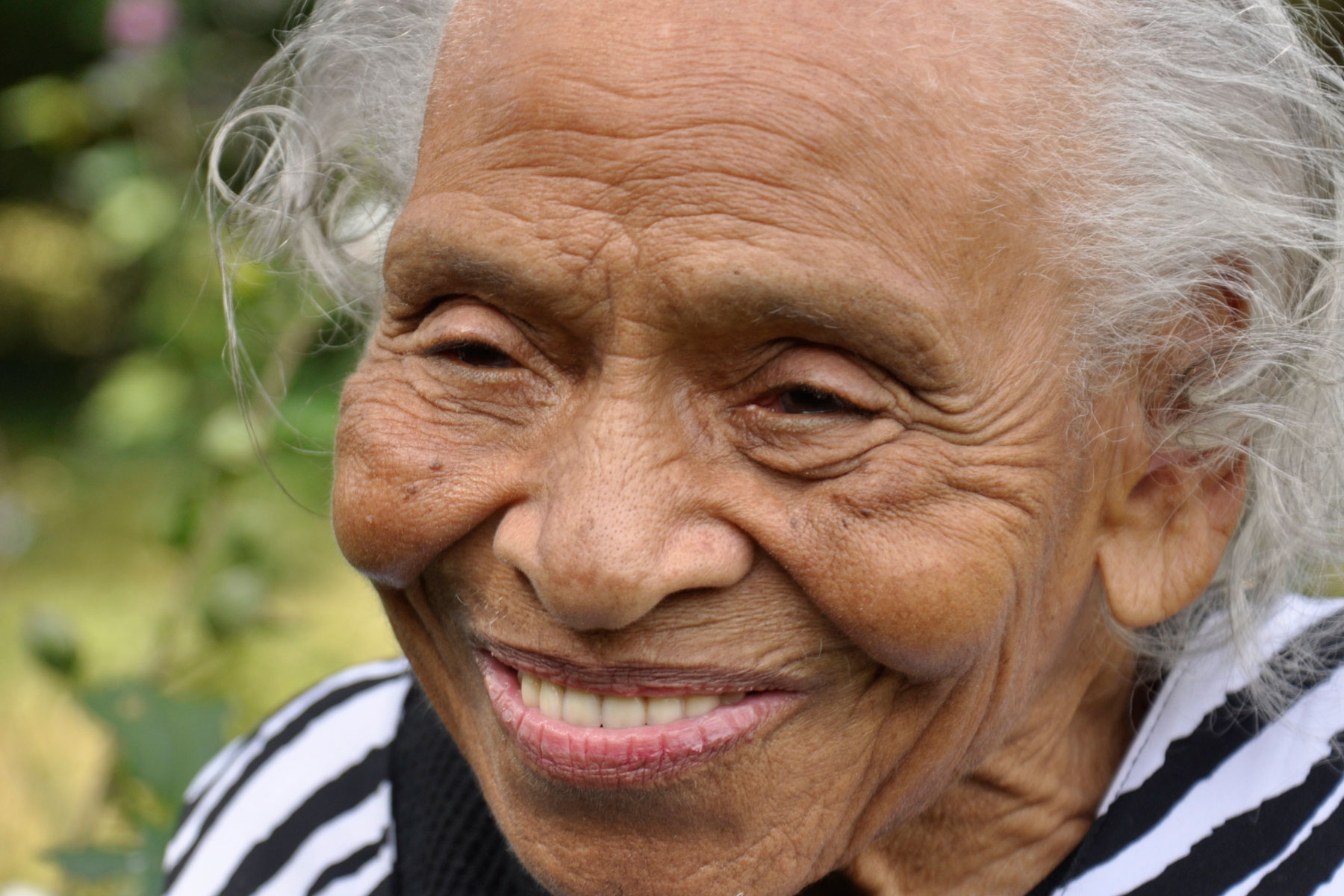 Olivia Hooker, pictured here at 98 years old, was the first African American woman to enter the U.S. Coast Guard. Also the last living survivor of the 1921, Tulsa, Oklahoma Hooker is now 102 years old.