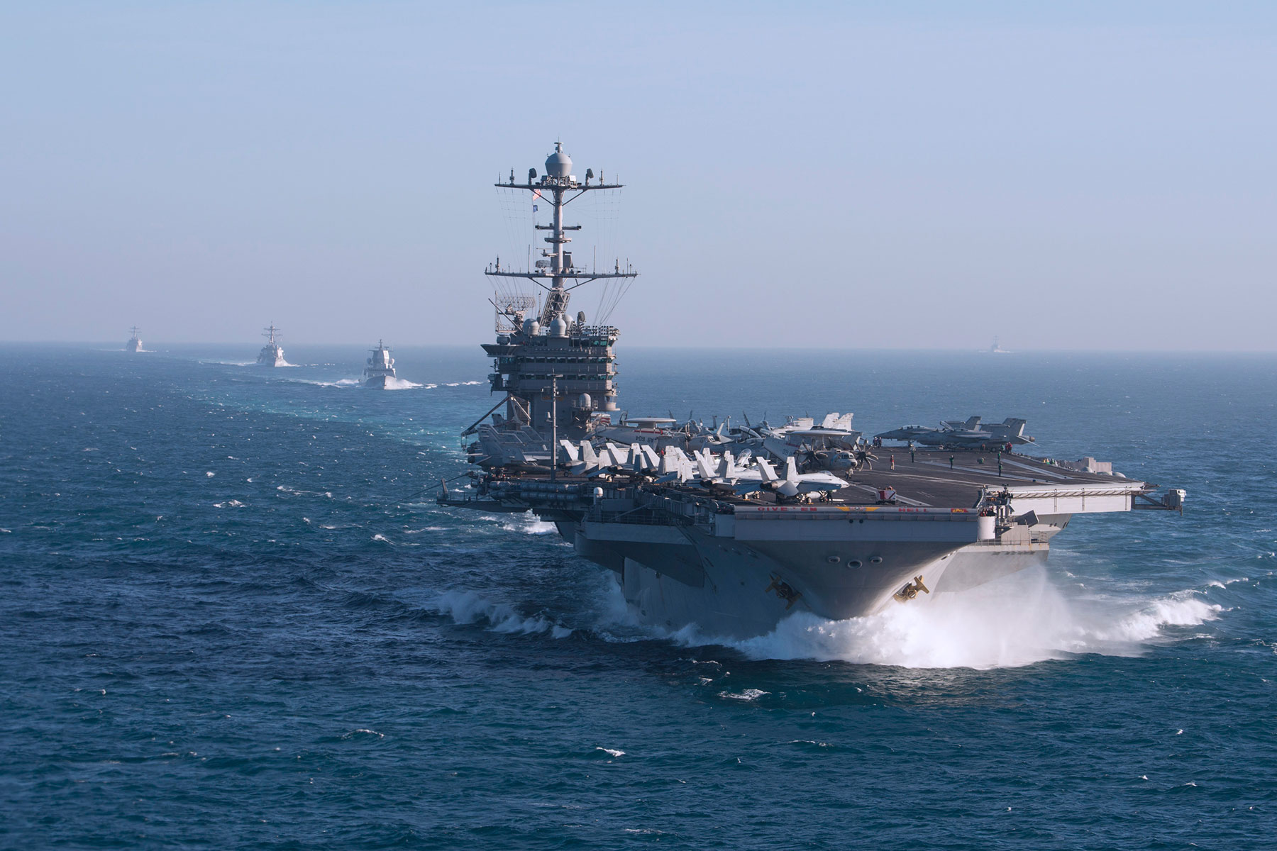 Carrier Truman Fixed, Readying to Deploy as Lincoln Awaits Relief in Middle East