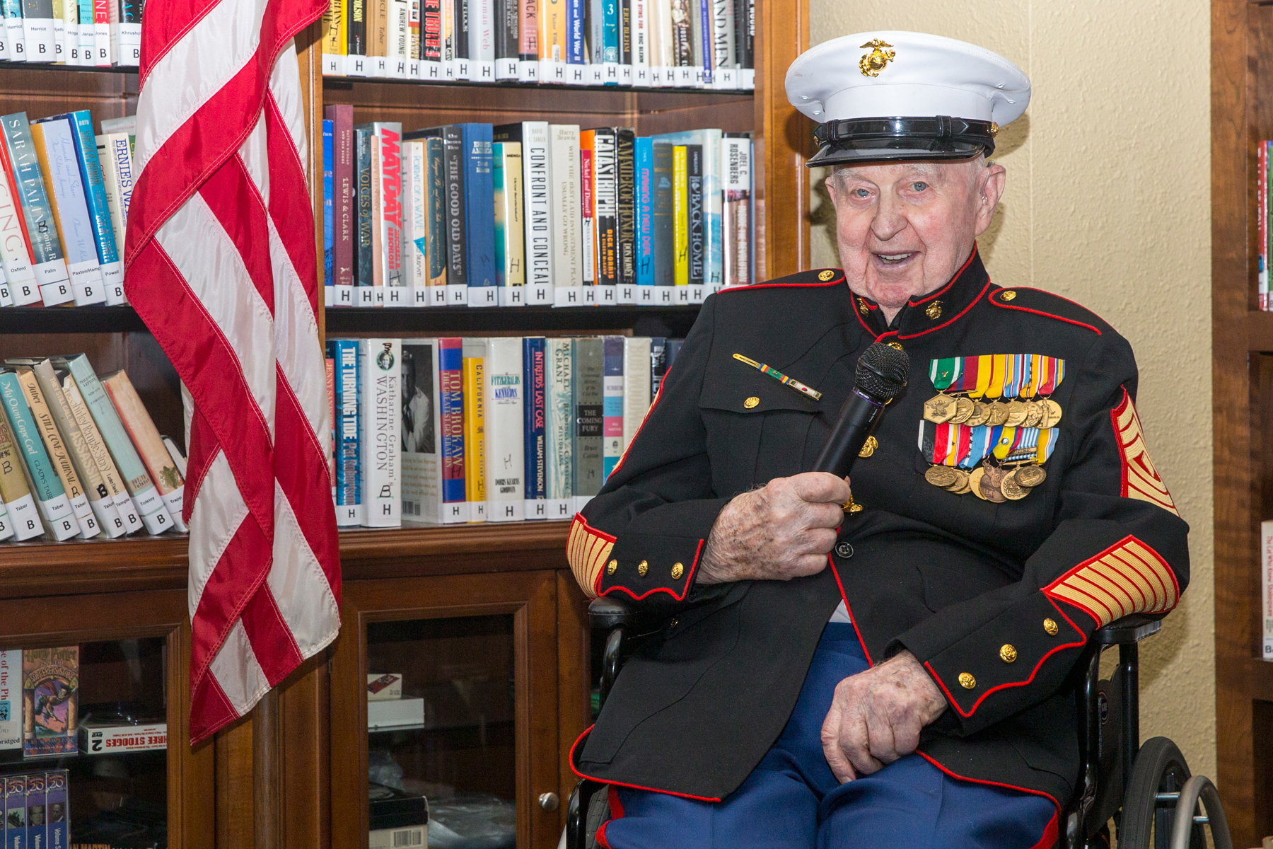 At  Wwii And Korean War Vet Honored For His Place In Marine