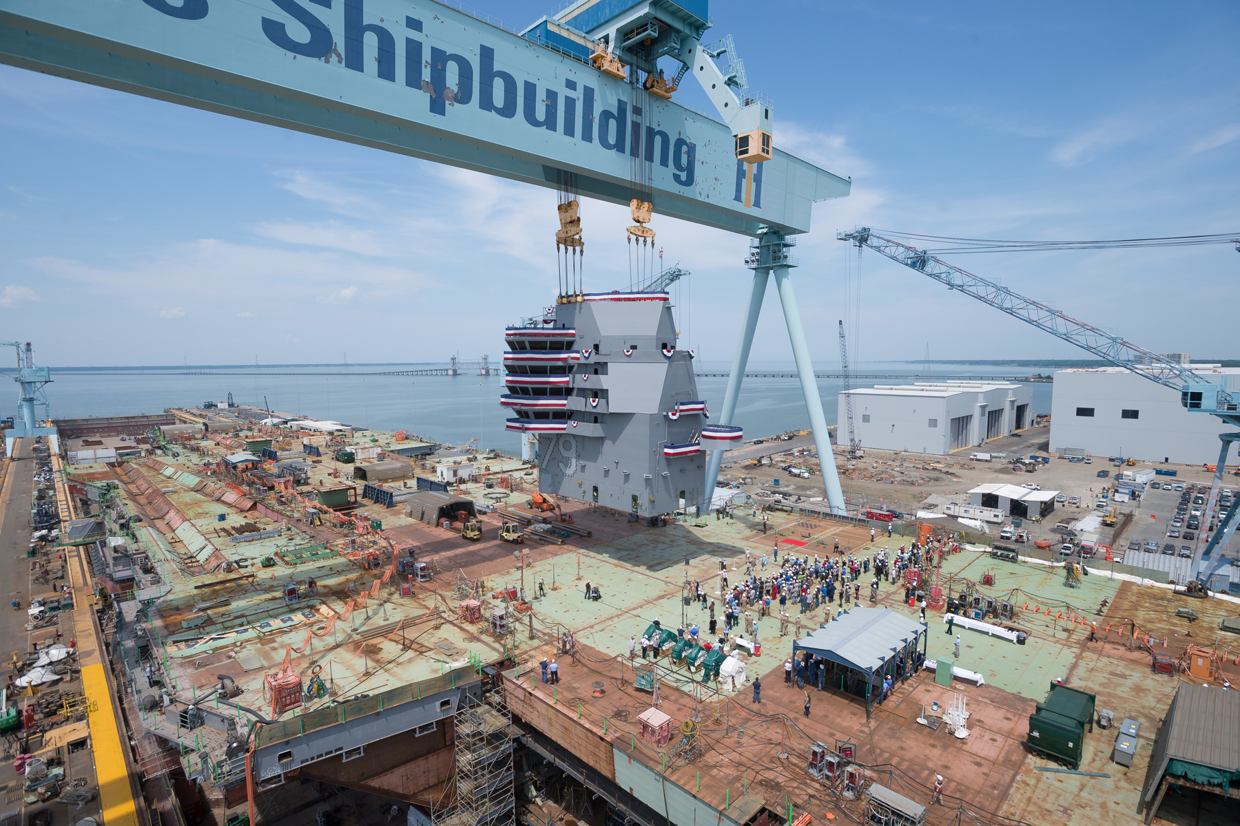 Flight Deck on New Aircraft Carrier John F. Kennedy Is Complete