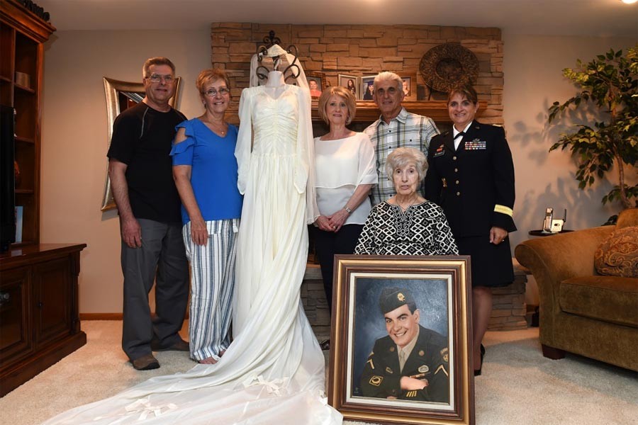 Woman Loans Wedding Dress Made from Husband's WWII Parachute to 82nd Airborne Museum