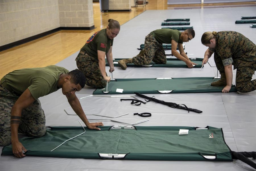 Deadly Force Not Authorized: Marines Dispense Advice, Humor as Dorian Approaches Carolinas