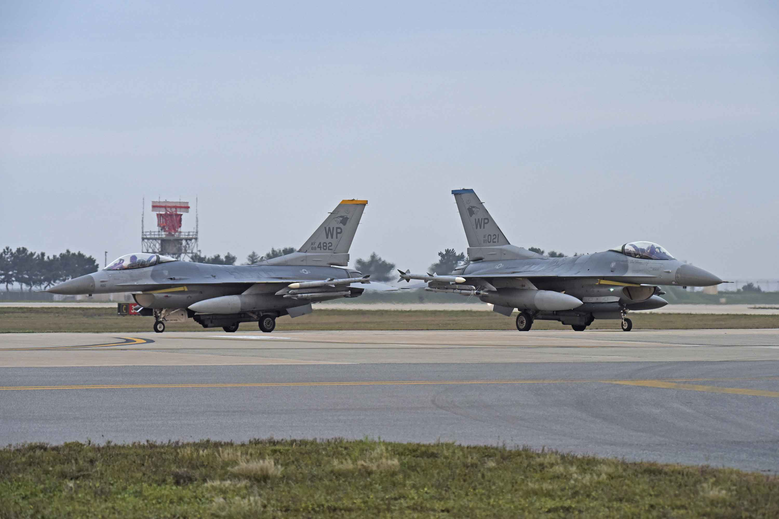Pilot Ejects Safely from F-16 During Landing at Kunsan Air Base