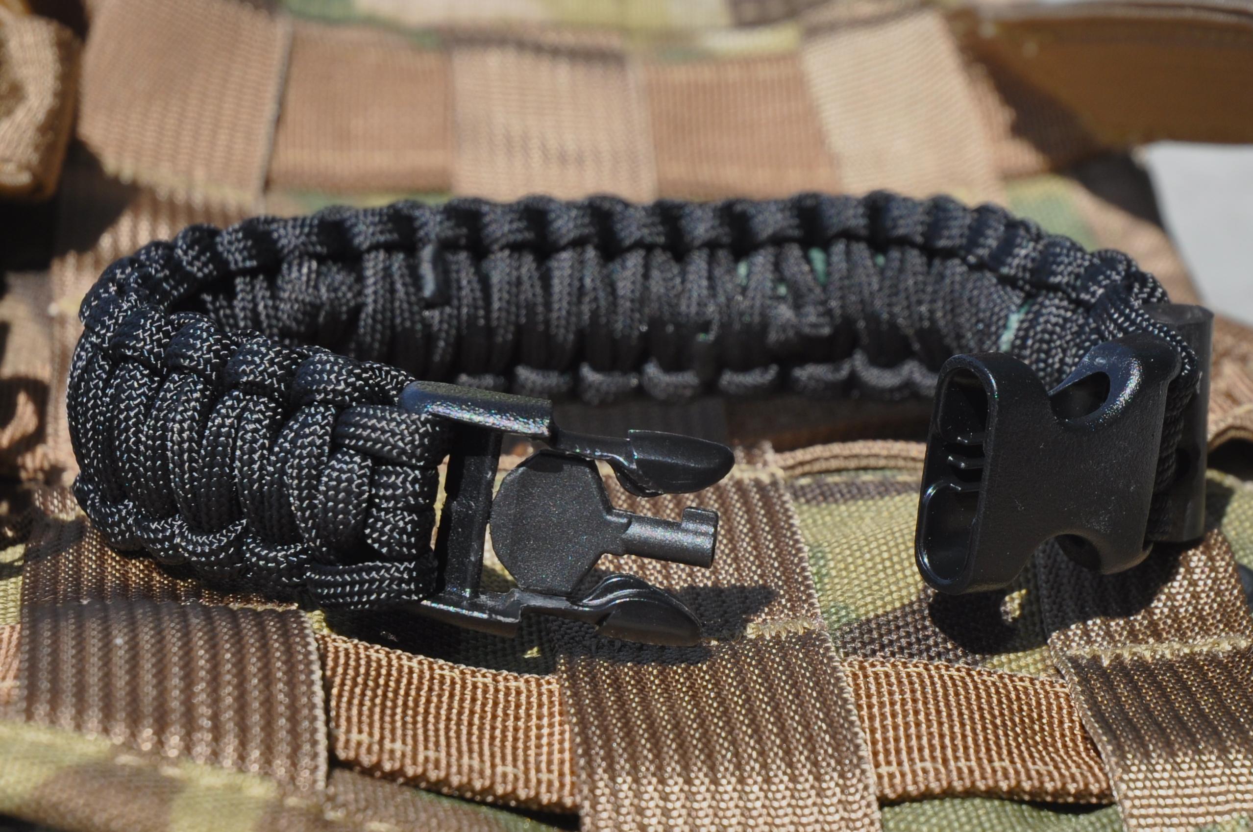 Paracord Bracelet Handcuff Keyleather Name Bracelets