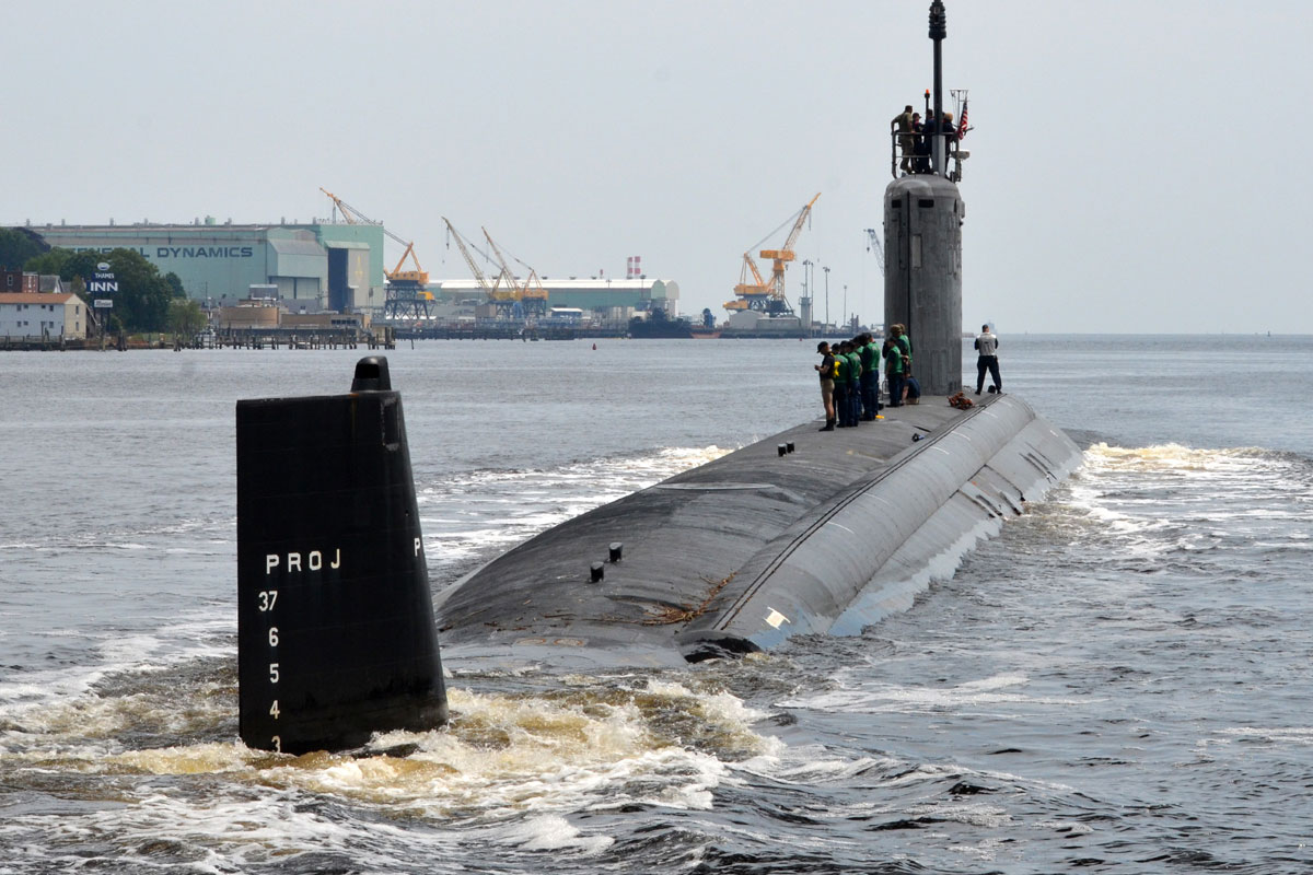 A Virginia-class attack submarine
