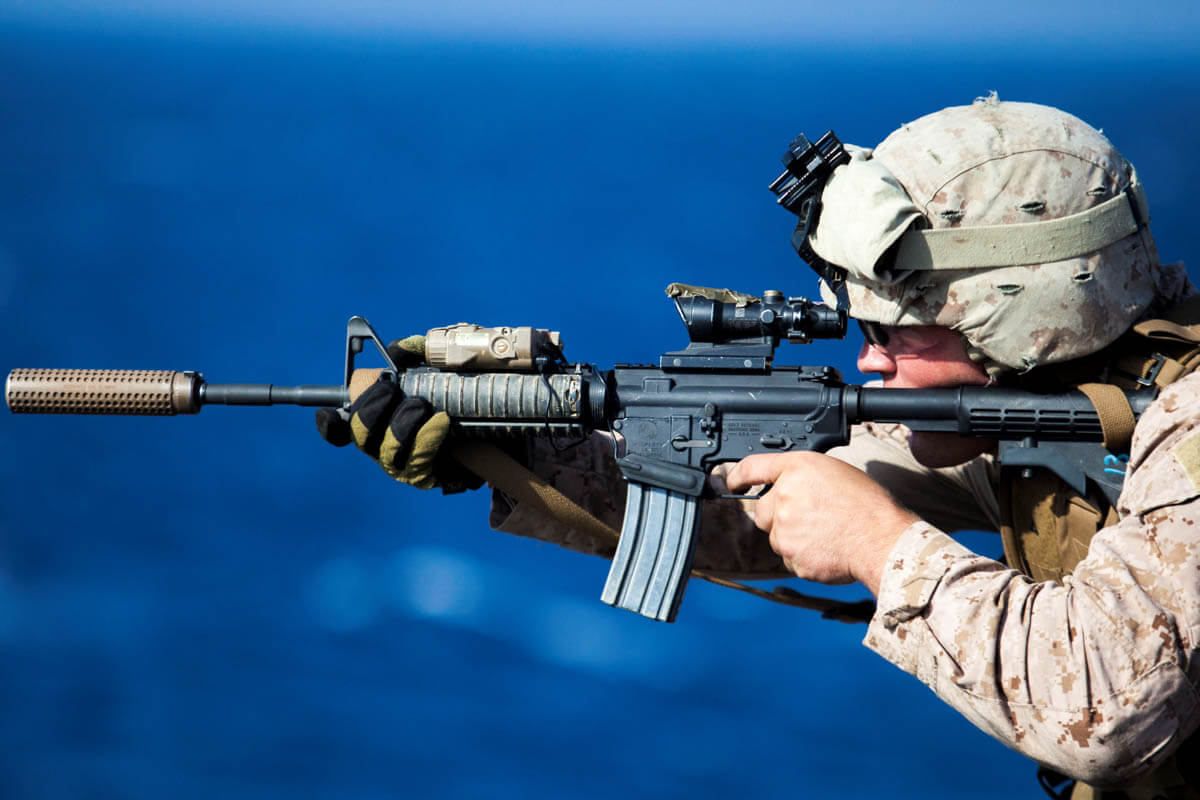American assault rifle M4 rifle: technical characteristics, history of creation 52