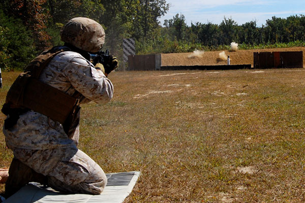 Marine Corps Hones Moving Target Shooting Skills