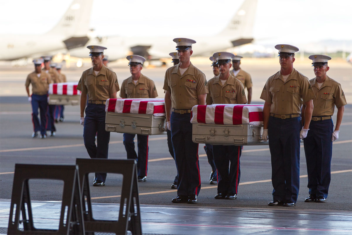 Remains of 36 Unidentified Marines from WWII Battle Return