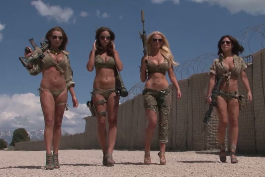 police  guard face penalties in bikini film shoot
