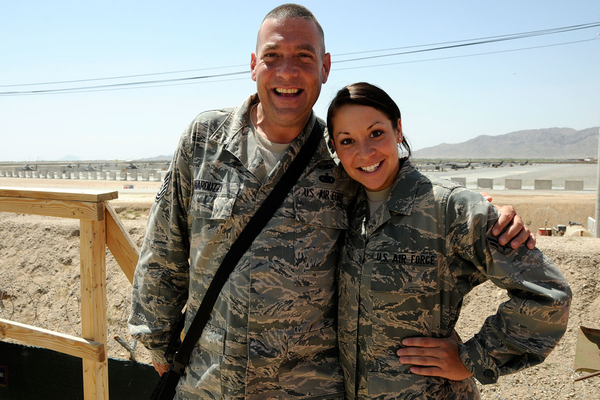 Airman Father and Daughter Deployed to Afghanistan