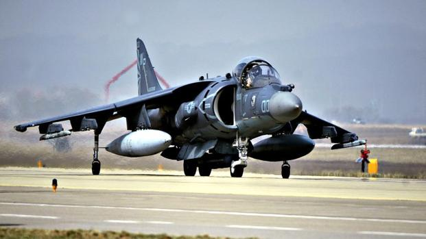A Marine AV-8B Harrier prepares for takeoff at Osan Air Base, Republic of Korea, on March 28, 2014. Senior Airman Siuta B. Ika/Air Force