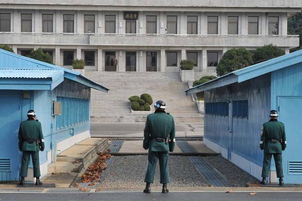 FILE -- The Joint Security Area in Panmunjom is the only place in 155-mile-long and 2 ½ mile-wide Korean Demilitarized Zone where military-level meetings are held between the UN Command and North Korea. (U.S. Army/Cpl. Park Youngho,)