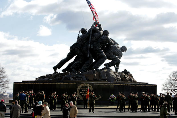 The unique way that PFC Harold Schultz carrried his rifle -- because of a broken shoulder strap -- helped identify him as the sixth man represented by the iconic Iwo Jima memorial.