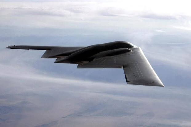 FILE PHOTO -- The B-2 Spirit is a multi-role bomber capable of delivering both conventional and nuclear munitions. (U.S. Air Force photo by Bobbie Garcia)