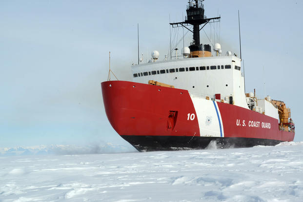 9b091d7d636 The Coast Guard Cutter Polar Star, with 75,000 horsepower and its  13,500-ton weight