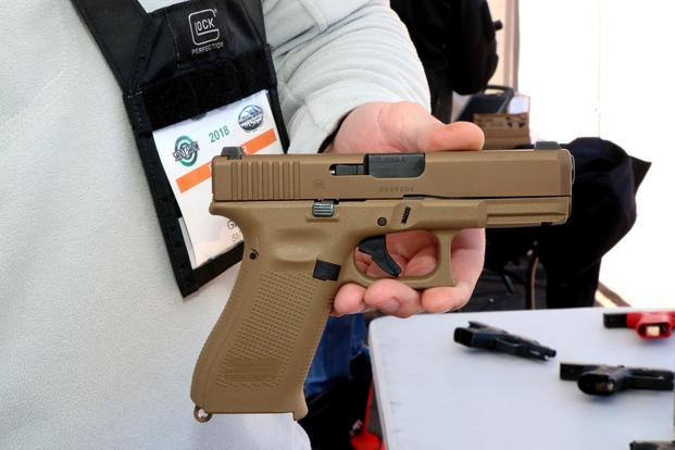 Glock's new G19X, which emerged out of the company's effort to win the Army Modular Handgun System competition. (Photo by Matthew cox/Military.com)