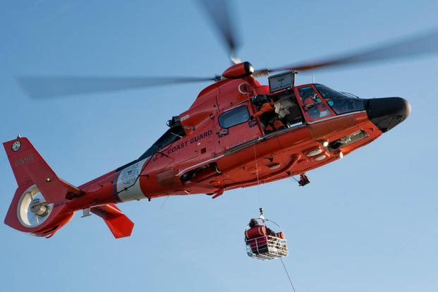 An MH-65 Dolphin rescue helicopter. Coast Guard photo
