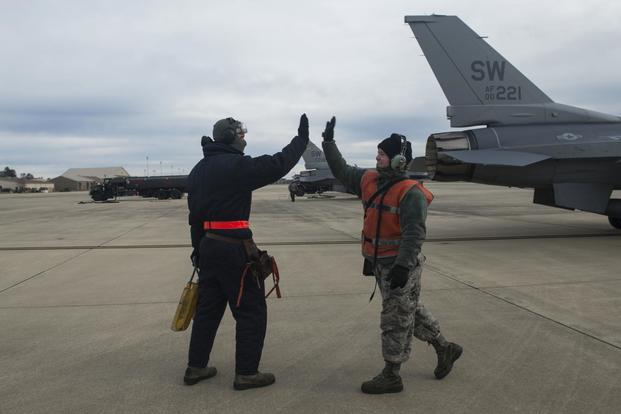 usaf short about 200 maintainers pilot training continues