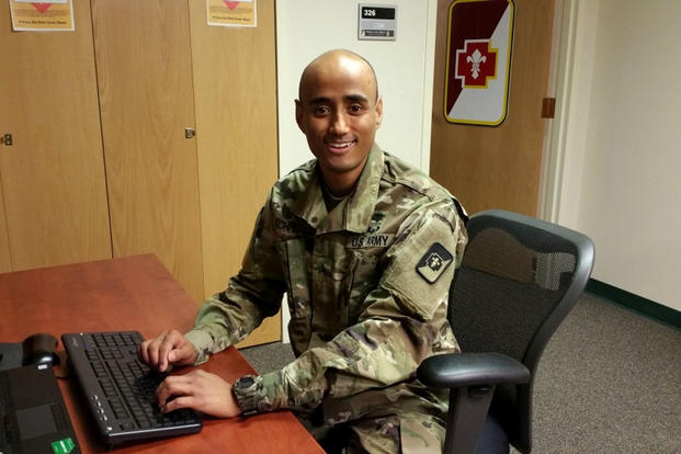 "Army Sgt. Santosh Kachhepati, who enlisted through MAVNI, is now on track to receive a medical degree. Other MAVNI enlistees remain stuck in ""bureaucratic limbo."" (US Army photo/Cain Claxton)"