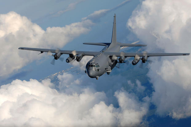 An AC-130U gunship from the 4th Special Operations Squadron, flies near Hurlburt Field, Fla., Aug. 20, 2016. (U.S. Air Force photo/Julianne Showalter)