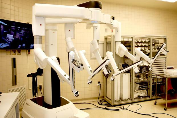 The da Vinci Xi surgical system, a minimally invasive robotic surgery system, has been used at William Beaumont Army Medical Center in El Paso Texas. Army photo