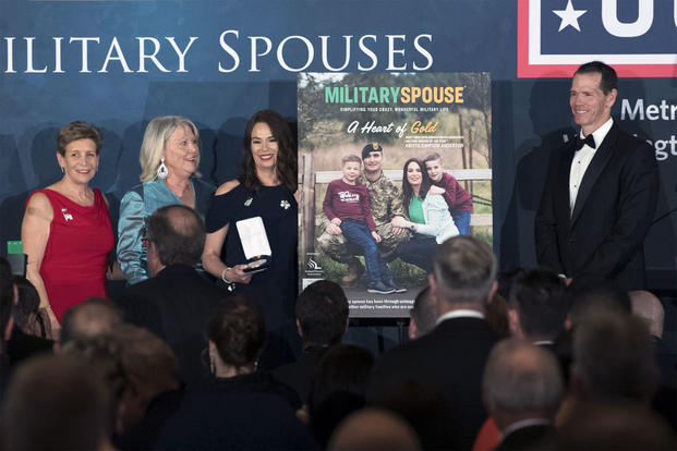 Krista Simpson was named the 2018 Military Spouse of the Year (DoD/EJ Hersom)