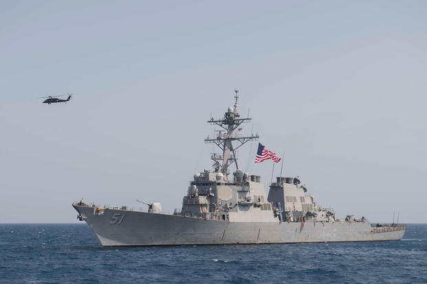 The guided-missile destroyer USS Arleigh Burke (DDG 51) transits the Mediterranean Sea, April 25, 2018. (U.S. Navy photo/Raymond Maddocks)