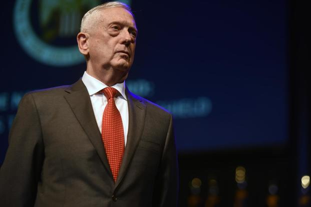 Secretary of Defense James Mattis addresses National Guard leaders at the National Guard Association of the United States 140th General Conference, New Orleans, Louisiana, Aug. 25, 2018. (U.S. Army National Guard/Sgt. 1st Class Jim Greenhill)