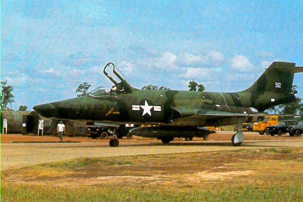 A U.S. Air Force RF-101A Voodoo from the 33rd Tactical Group, after landing at Tan Son Nhut Air Base in Vietnam, circa 1965. Air Force pilot Fredric Moore Mellor was flying a Voodoo over Vietnam when he was shot down by the enemy. (US Air Force photo/Dana Bell)