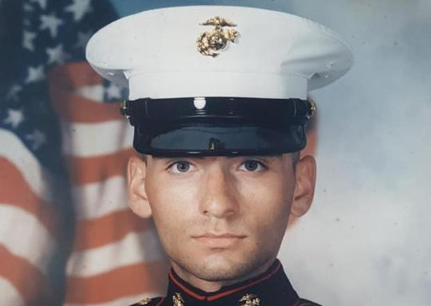 Marine vet Michael Ukaj is seen in an undated service photo. Image via Facebook.