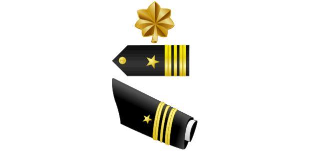 Lieutenant Commander (LCDR, O4) insignia