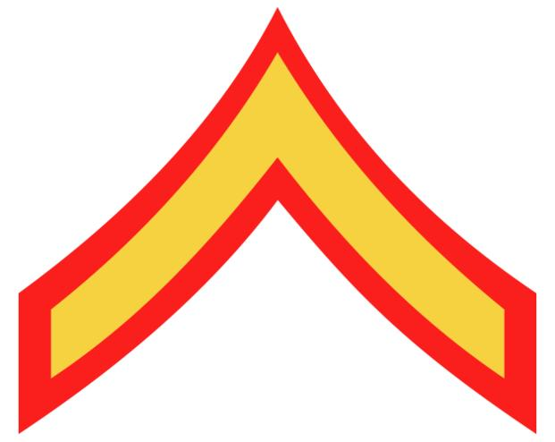 Marine Corps Private First Class (PFC) insignia