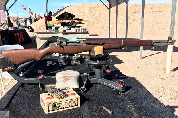 The Civilian Marksmanship generated $196.8 million in revenue from sales of surplus M1 Garand rifles between fiscal years 2008 through 2017, according to the Government Accountability Office. Here, a surplus M1 rifle is shown at SHOT Show 2018. Matthew Cox/Military.com