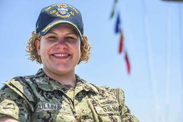 5a5fa7e6f93c43 Cmdr. Jean Marie Sullivan is the senior officer aboard a ship that has a  history