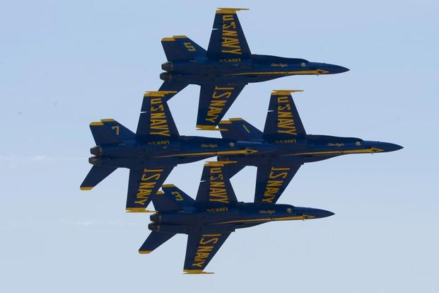 dcb7ab58115 Blue Angels Jets Made Contact Midair During Tight Diamond 360 ...
