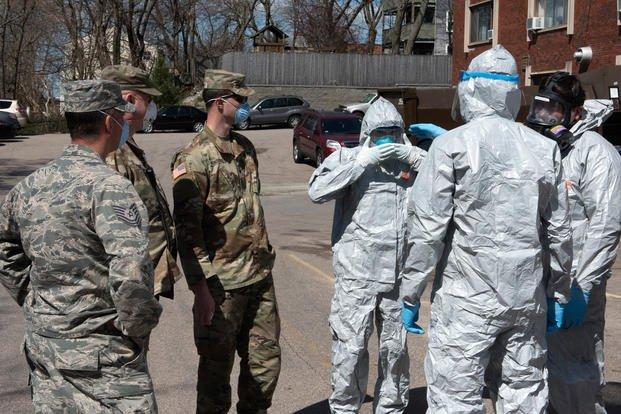 Massachusetts National Guard COVID-19 testing