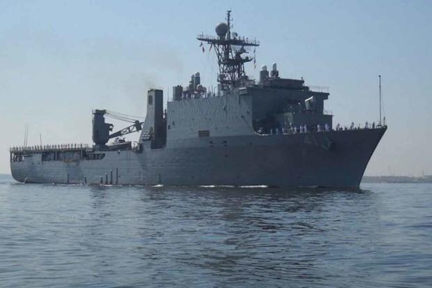 The dock landing ship USS Whidbey Island.