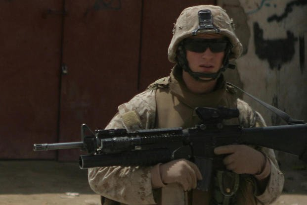 Marine patrols in Iraq