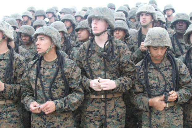 Marine recruits training San Diego