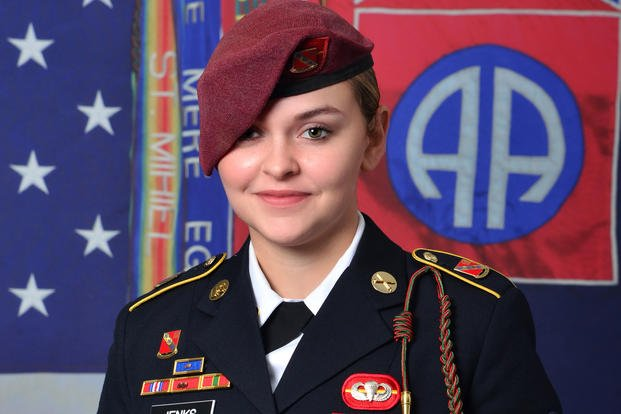 Spc. Abigail Jenks, 21, of the 82nd Airborne