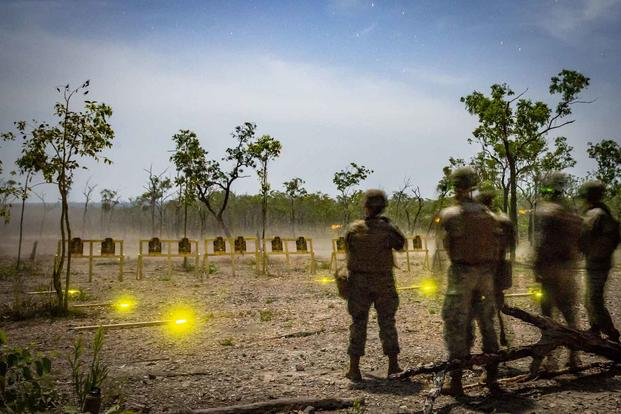 U.S. Marines live-fire training conducted in Australia.