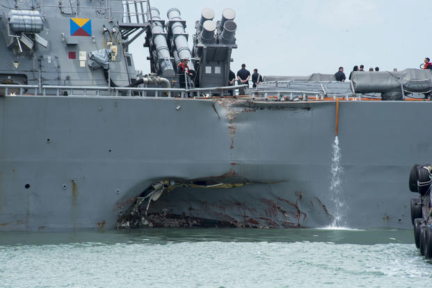 Image result for Navy files criminal charges in connection with deadly ship collisions