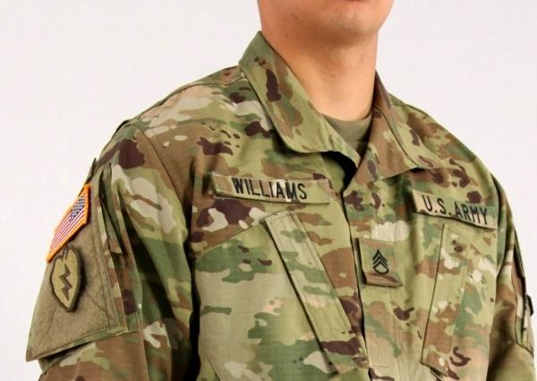 What side does the us army patch go on