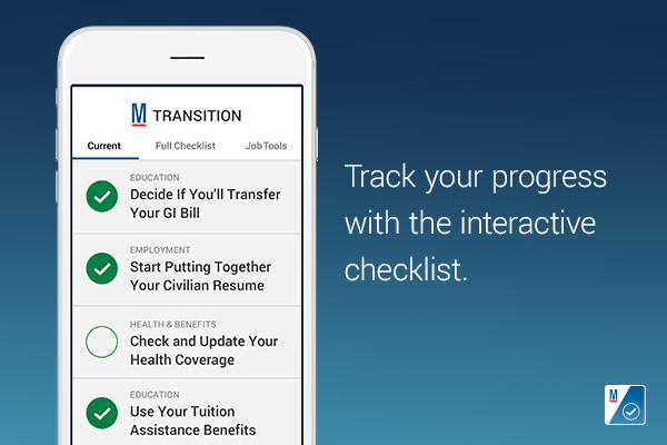 Track your progress with the interactive checklist