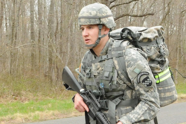 Army Spc. Joshua Meyer, college student reservist.