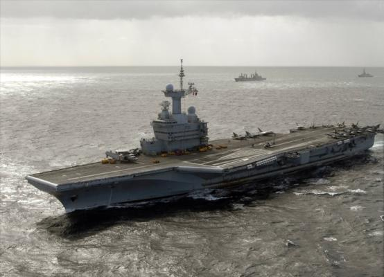 The French aircraft carrier Charles De Gaulle will be ready to conduct operations against the Islamic State on Monday, Nov. 23. (US Navy photo)