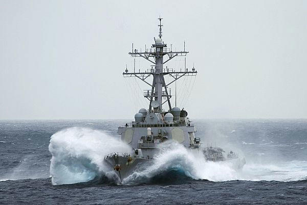 The missile destroyer USS Curtis Wilbur sailed within 12 nautical miles of Triton Island in the Paracel Islands on Jan. 30, eliciting a strong protest from Beijing. (US Navy photo)