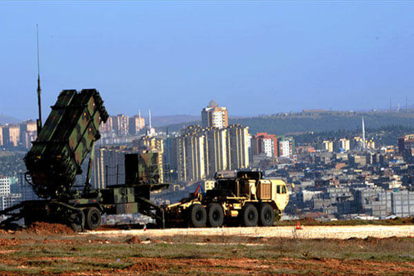 US Patriot missiles stand guard over Gaziantep, Turkey in February 2013. An additional battery of the missiles has been deployed to South Korea. (US European Command)