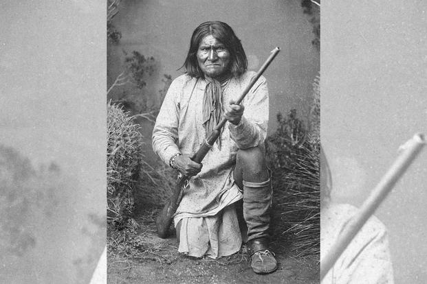 The Chiricahua Apache leader Goyathlay, known as Geronimo. (National Archives)